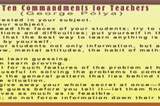 Sepuluh Perintah Untuk Guru Versi George Pólya